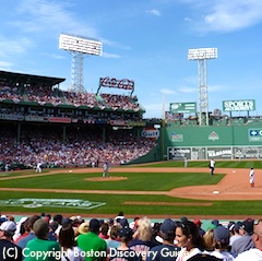 Photo of Boston's Fenway Park - Red Sox playing Rays