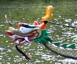 Photo of dragon boat head - Boston Dragon boat festival