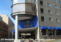 Hilton Boston - one of many hotels in Boston and Cambridge offering campus visit discounts