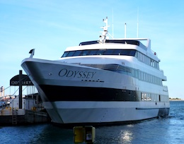 Odyssey cruise ship at Rowes Wharf