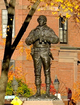 Statue of General George S. Patton, Jr. on Boston's Esplanade
