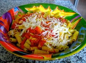 Photo of pasta with fresh tomato marinara sauce recipe