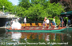 Boston Public Garden Make Way for Ducklings Swan Boats