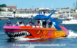 Codzilla - favorite Boston Harbor cruise for teens