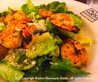 Jacob Wirth Caesar Salad with Grilled Shrimp