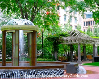 Norman Leventhal Park across from Langham Hotel Boston