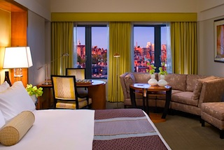 Luxury room at Boston's Mandarin Oriental Hotel