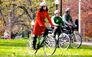 Boston Bike Tour on Boston Common