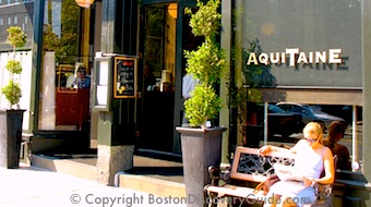 Aquataine, a popular French restaurant in Boston's South End