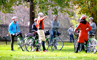 Boston Bike Tours are a great sightseeing opportunity - www.boston-discovery-guide.com