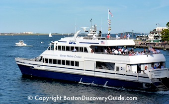 Cruise boat on Boston Harbor Tour - www.boston-discovery-guide.com