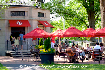 Earl of Sandwich food pavilion on Boston Common