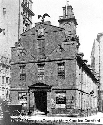 Old State House in Boston - photographed in early 1900s