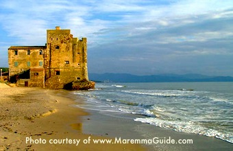 Castle in Maremma, a Tuscan city in Boston Discovery Guide's Vacation Suggestions  / www.bostondiscoveryguide.com
