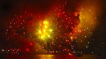 Boston fireworks on July 4th