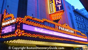 Paramount Theatre in Boston's Theatre District