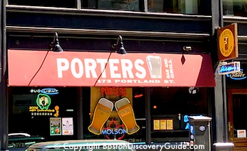 Boston Sports Bars near Garden - Porters