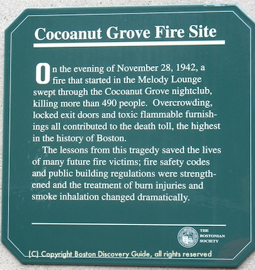 Cocoanut Grove Plaque in Bay Village