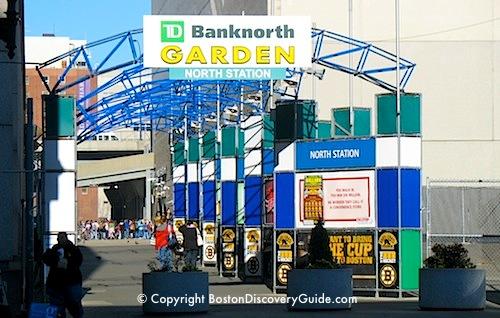 MBTA parking garage under TD Garden / Boston parking garages near North End - www.boston-discovery-guide.com