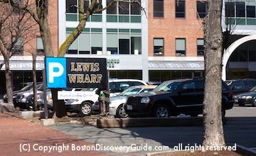 Lewis Wharf parking lot in Boston's North End Weekend rates