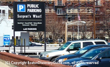 Sargent's Wharf Parking Lot in Boston's North End
