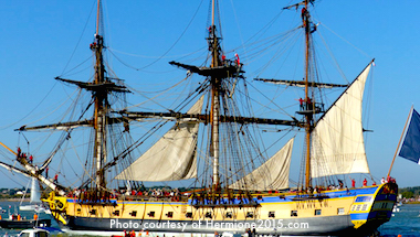 Tall ships in Boston