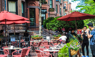 Boston restaurants - Best patio dining  in Back Bay