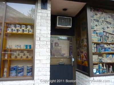 Street-side view of Bodega, Boston, MA
