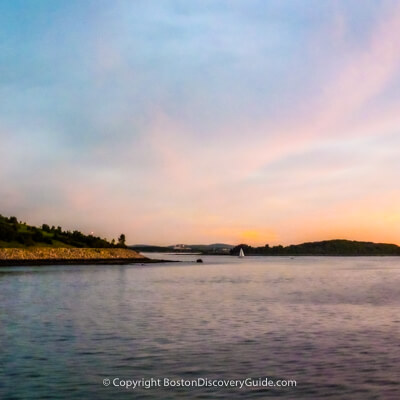 Boston Harbor Islands at sunset