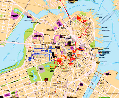 Best Boston Map for Visitors - Free Sightseeing Map - Boston ...