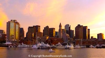 Boston Skyline, seen from a Harbor dinner cruise