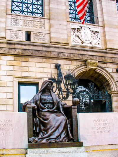 Boston Public Library entry