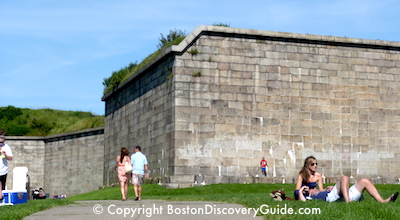 Fort Independence on Castle Island in Boston MA
