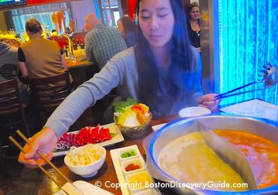 Boston winter break week - dine in Chinatown