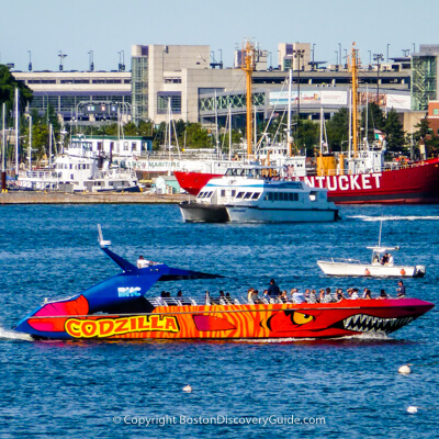 Boston teen favorite:  Codzilla cruise on Boston Harbor