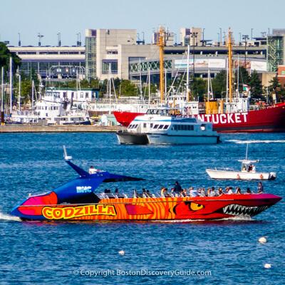 Boston teen favorite:  Codzilla cruise on Boston Harbor
