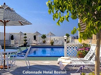 Swimming pool at Colonnade Hotel