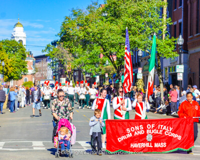 Boston's Columbus Day Parade through the North End