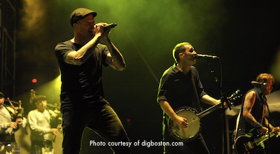 Dropkick Murphys in concert in Boston