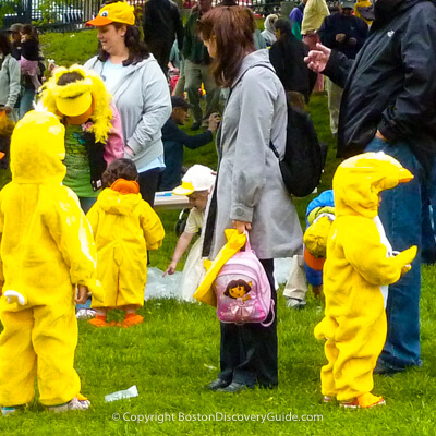 The Duckling Day Parade in Boston