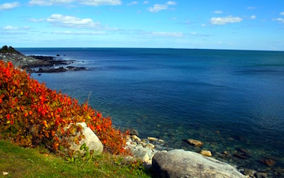 Fall foliage along the New Hampshire Coast