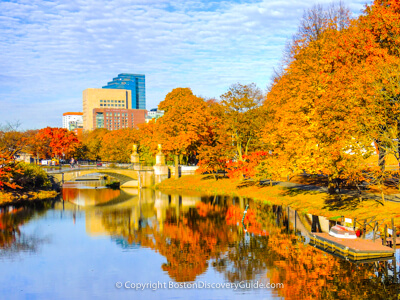 Where to see Boston's Fall Foliage
