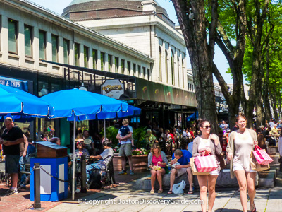 Boston attractions: Faneuil Marketplace