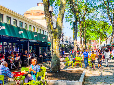 Faneuil Marketplace - historic shopping area on Boston's Freedom Trail