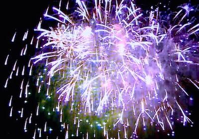 Fireworks at Boston's First Night celebration
