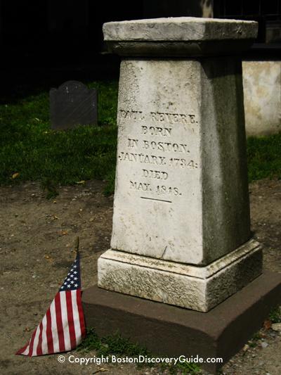 Paul Revere tombstone in Granary Burying Ground