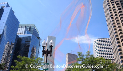 Barbara Echelman aerial sculpture on Boston's Greenway