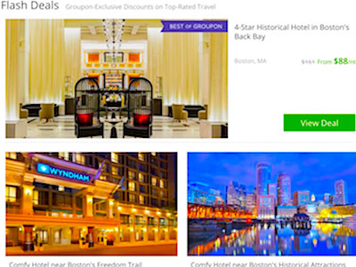 Boston hotel bargains from Groupon