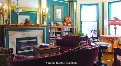 Find out about fireplaces in suites at Gryphon House Inn, luxury Victorian  hotel, in Boston