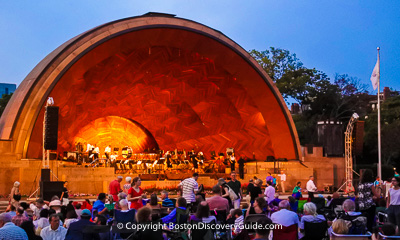 Boston nightlife and entertainment - Hatch shell